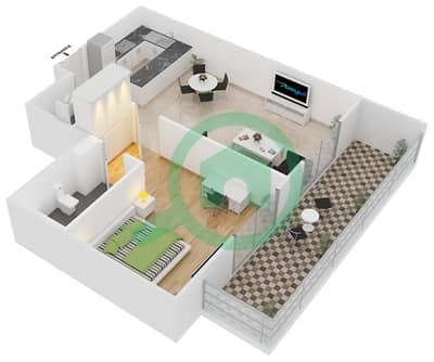 ALCOVE - 1 Bedroom Apartment Type A2 Floor plan