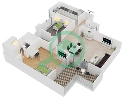 ALCOVE - 1 Bedroom Apartment Type A4 Floor plan