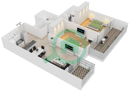 ALCOVE - 2 Bedroom Apartment Type B5 Floor plan