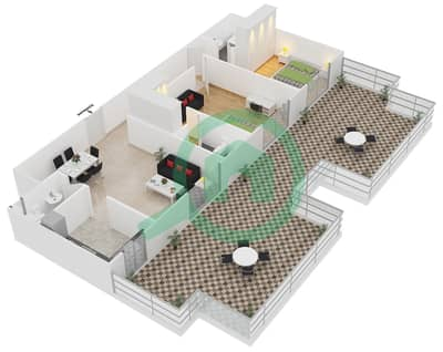 ALCOVE - 2 Bedroom Apartment Type B1 FLOOR 4 Floor plan
