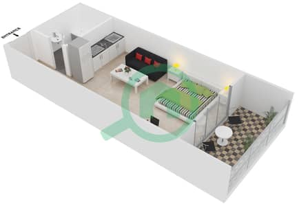ALCOVE - Studio Apartment Type C1 Floor plan