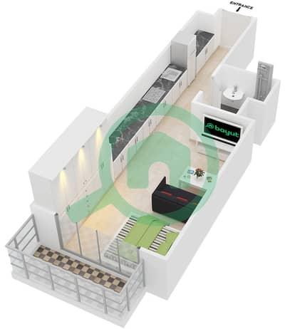 المخططات الطابقية لتصميم النموذج 3 شقة  - عزيزي برتون