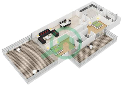 Azure Residences Floor Plans Palm Jumeirah Bayut Dubai