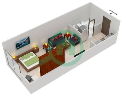 المخططات الطابقية لتصميم النموذج D شقة  - مساكن القناه المائية غرب
