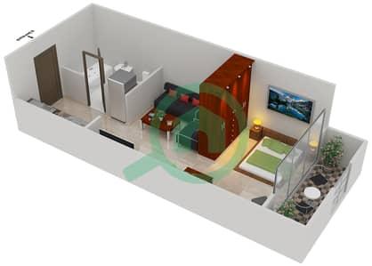 المخططات الطابقية لتصميم النموذج A2 شقة  - مساكن القناه المائية غرب