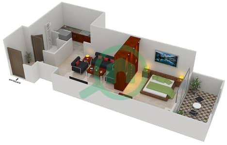 المخططات الطابقية لتصميم النموذج B2 شقة  - مساكن القناه المائية غرب