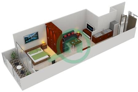 المخططات الطابقية لتصميم النموذج C2 شقة  - مساكن القناه المائية غرب