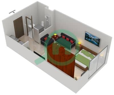 المخططات الطابقية لتصميم النموذج D2 شقة  - مساكن القناه المائية غرب
