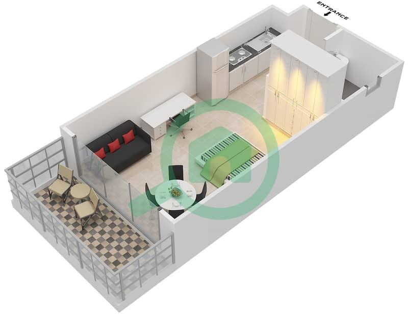 Floor Plans For Type Unit B 1 7 10 12 14 Studio Apartments In Elite Sports Residence 7 Bayut Dubai