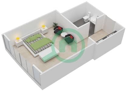 المخططات الطابقية لتصميم الوحدة 5 شقة  - فيرست سنترال للشقق الفندقية