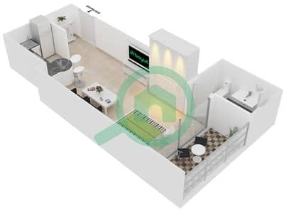 المخططات الطابقية لتصميم النموذج S شقة  - جلوبال ليك فيو