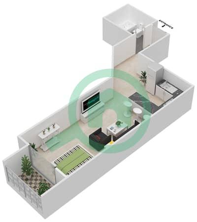 المخططات الطابقية لتصميم النموذج A شقة  - برجي لايم لايت التوأم