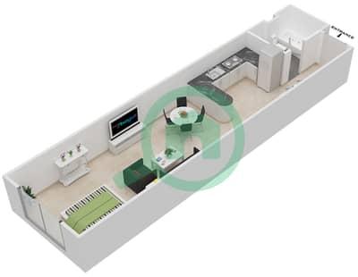 المخططات الطابقية لتصميم النموذج B شقة  - برجي لايم لايت التوأم