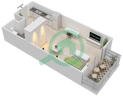 المخططات الطابقية لتصميم النموذج A شقة  - ماي رزدنس