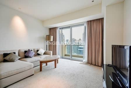شقة 1 غرفة نوم للايجار في دبي مارينا، دبي - Marina view | High floor | Fully Furnished