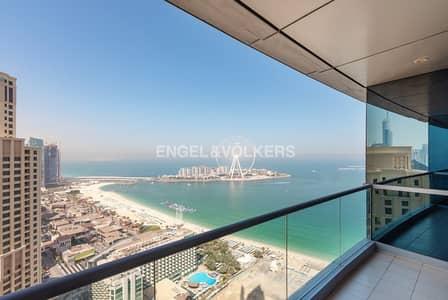 فلیٹ 3 غرفة نوم للبيع في مساكن شاطئ جميرا (JBR)، دبي - Panoramic sea view | Vacant | High Floor