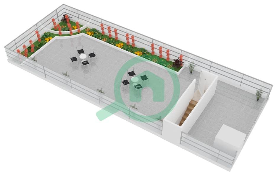 المخططات الطابقية لتصميم النموذج B3 FLOOR 5 شقة 2 غرفة نوم - الكوف Floor 5 Upper image3D