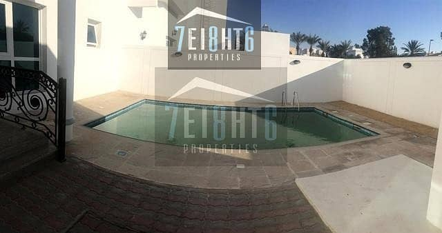 10  private swimming pool and large garden for rent in Jumeirah