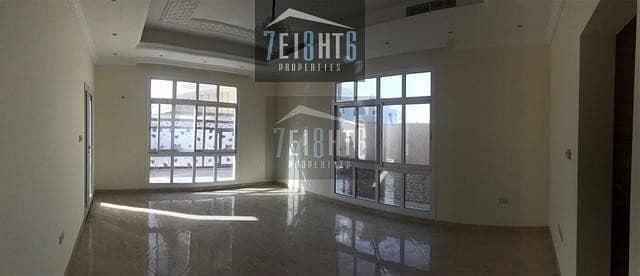 فیلا 3 غرف نوم للايجار في عود المطينة، دبي - Brand new: 3 b/r semi-indep villa with maids room and beautiful landscaped garden for rent in OAM 2