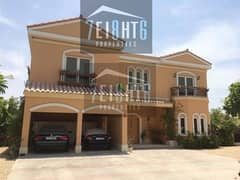 5 b/r independent high quality fully FURNISHED villa with maids room, s/pool and landscaped garden