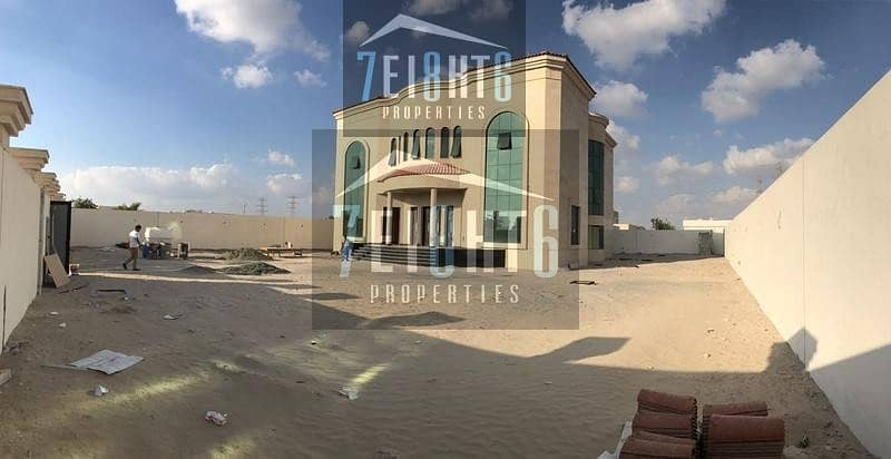 10 5 b/r spectacular high quality luxury brand new very spacious villa with good finishing + maids room