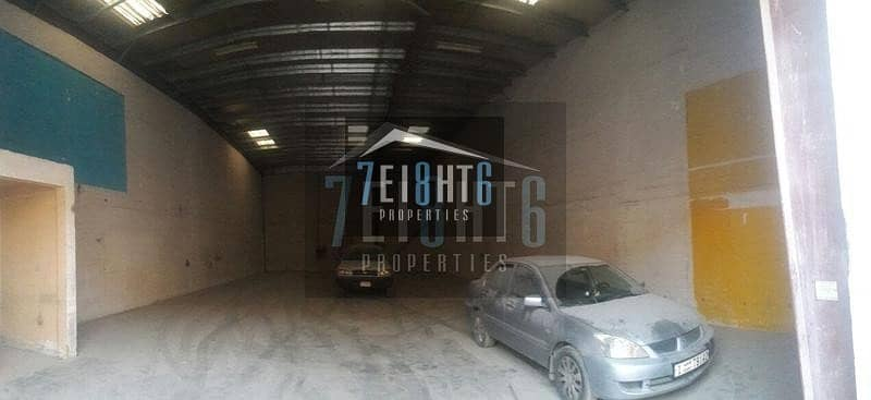 6 000 sq ft warehouse high ceilings fire fighting equipment emergency exit car parking