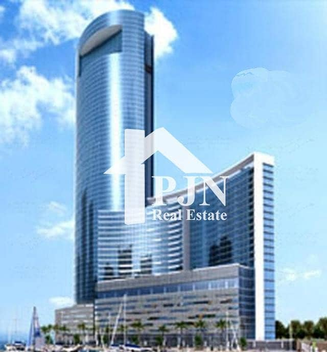 2  Shell & Core Office in a Brand new Tower in Addax Port Office Tower in Al Reem Island