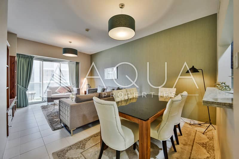 Furnished | 2 Beds + Study | Marina View