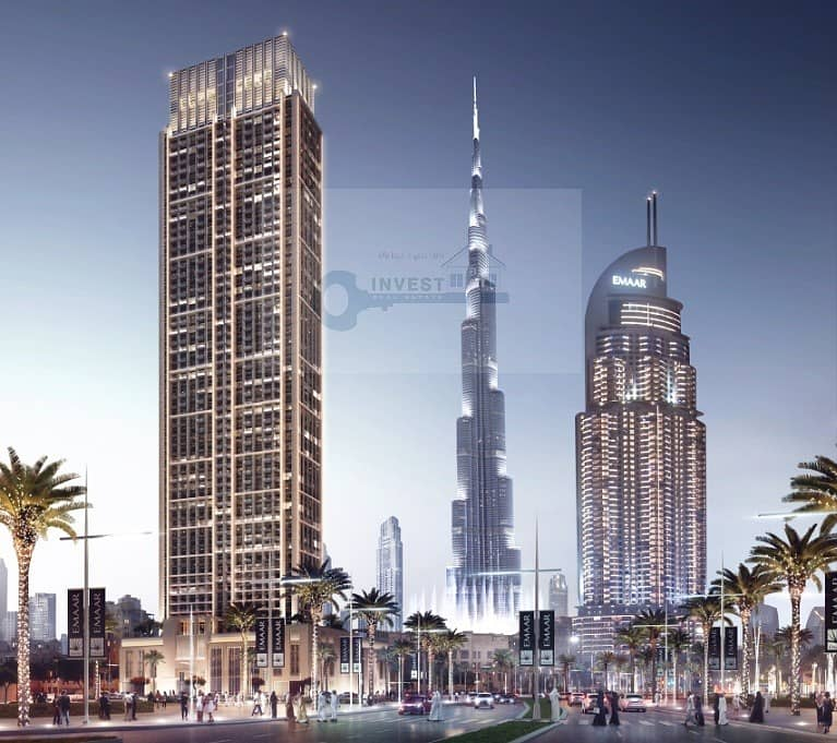 No Commission, Direct From Developer, 3 bedroom Walking distance to Dubai Mall High Floor