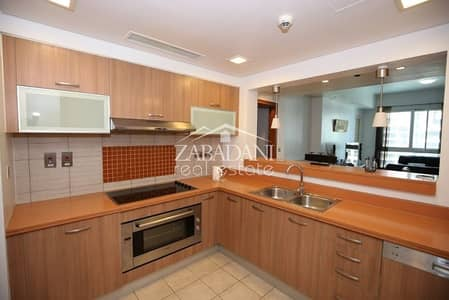 2 Bedroom Apartment for Rent in Palm Jumeirah, Dubai - 2 Bed With Maid + Laundry Room|Huge Balcony|Partial Sea View