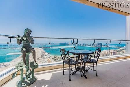 شقة 4 غرفة نوم للبيع في دبي مارينا، دبي - 4 beds Apartment |Marina and Sea view|Dubai Marina