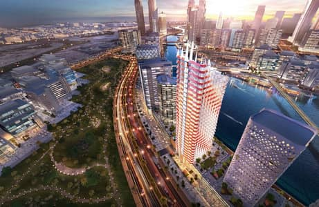 2 Bedroom Flat for Sale in Business Bay, Dubai - 2bed view canal directly Panorama on the Khalifa Tower monthly installment