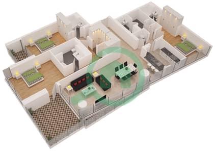 Al Sahab Tower 2 - 3 Bedroom Apartment Suite 04 FLOOR 32 Floor plan