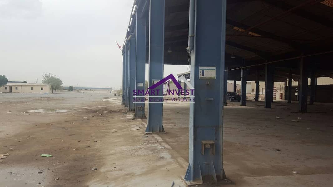 2 Open Yard Warehouse  & Plot for sale in Sharjah for AED 19M