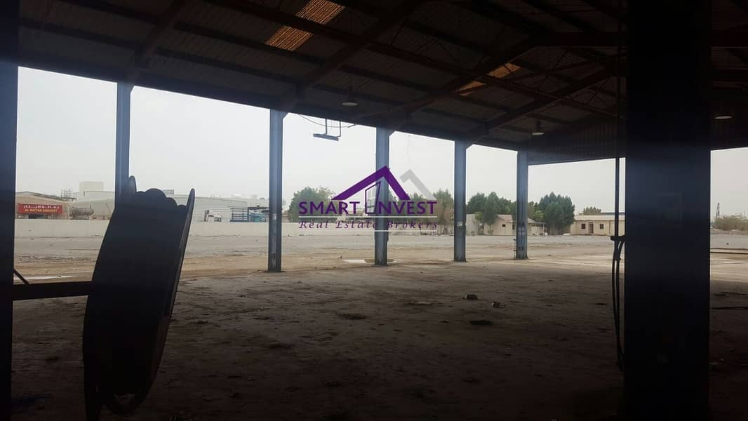 Open Yard Warehouse  & Plot for sale in Sharjah for AED 19M
