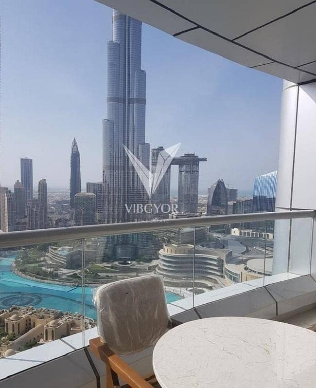 Partial Burj Khalifa and Furnished 2 Bed
