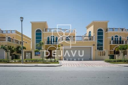 4 Bedroom Villa for Rent in Jumeirah Park, Dubai - Semi Furnished Single Row 4 B/D Legacy Nova Villa For Rent