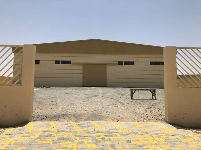 أرض صناعية مبنية في الجرف للبيع بدخل 16% بدون عموله من المالك مباشر