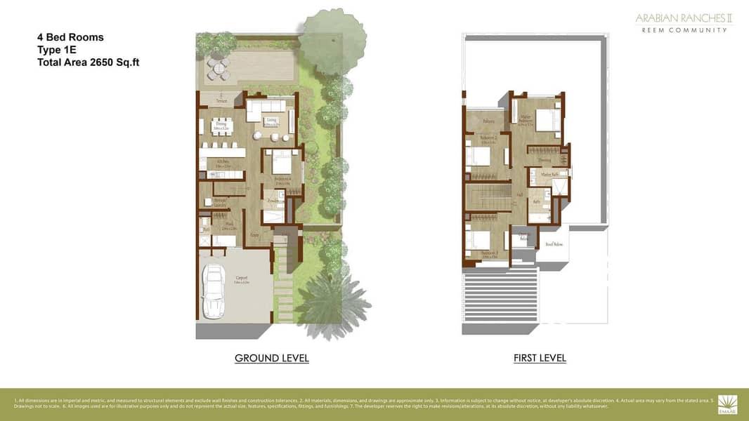 2 Excellent Four-Bedroom Villa at Al Reem Arabian Ranches