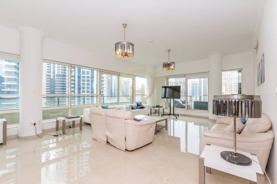 2 3 BR + Maids | Full Marina View | Furnished