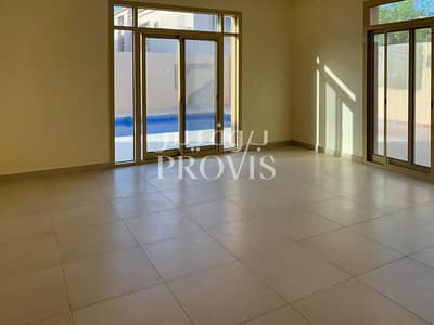 5 Bedroom Villa for Rent in Al Raha Golf Gardens, Abu Dhabi - Super Customized Villa with Pool in Golf Gardens!