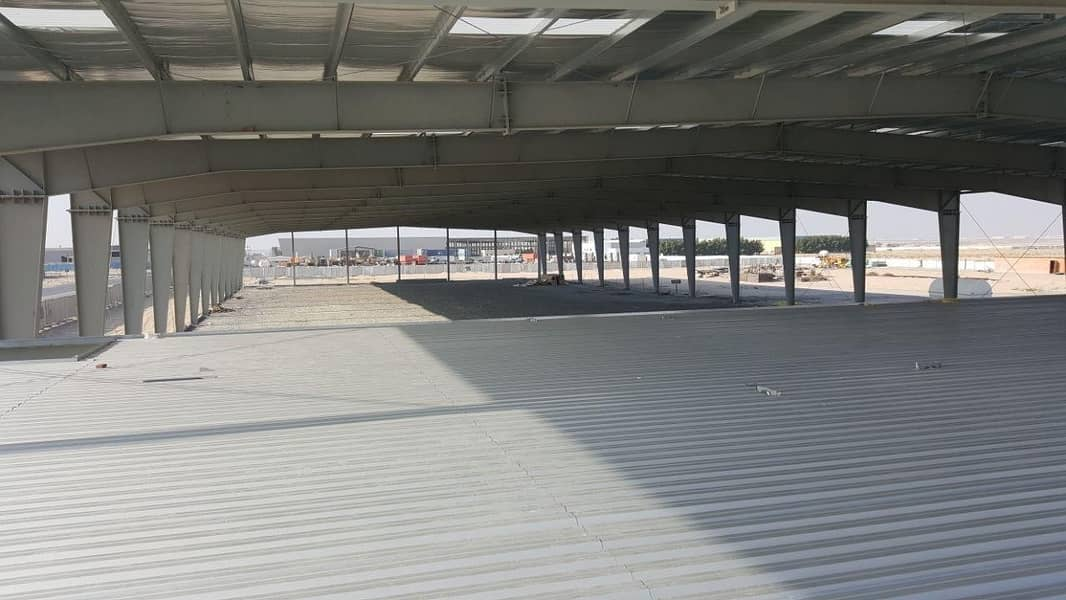 1 Plot with 25% Complited Warehouse in Dubai Industrial City for Urgent Sale