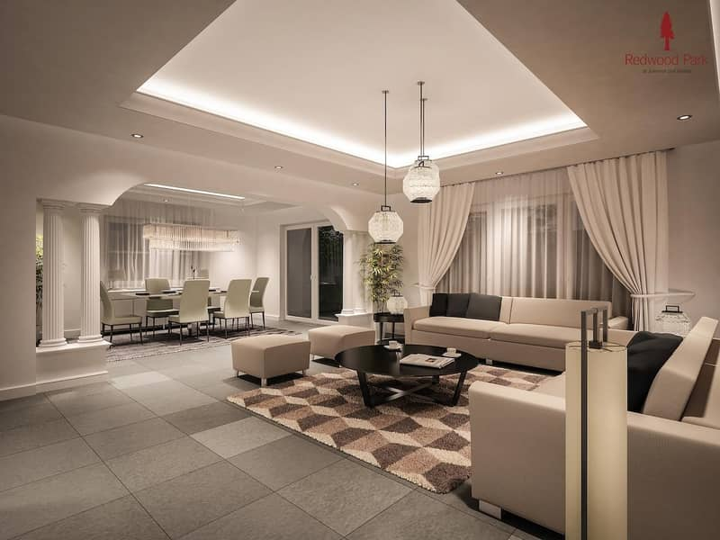 2 4% DLD Waiver  4BR+M Townhouse in Jumeirah Golf Estate
