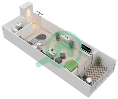 المخططات الطابقية لتصميم النموذج B شقة  - برج قيصر