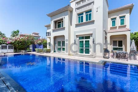 4 Bedroom Villa for Rent in Jumeirah Islands, Dubai - Fully Furnished 4BR with Infinity Pool