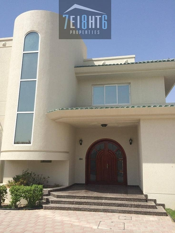 2 Beautifully presented: 5 b/r well maintained independent villa + maids room + drivers room + large garden