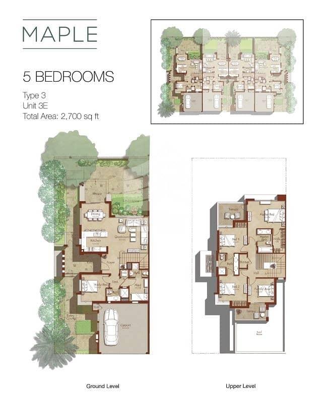 2 0% commission | 5BR | Maple | Dubai Hills Estate