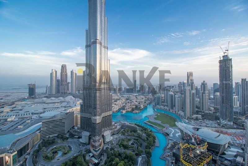 Full Burj Khalifa View | 2 BR+Store | Spacious