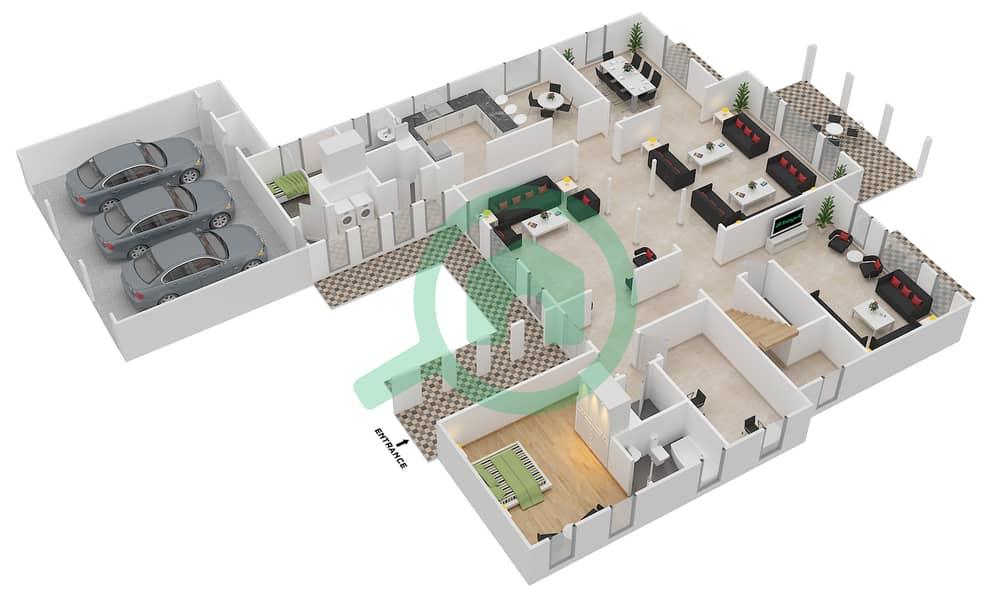Floor Plans For Type 19 7 Bedroom Villas In Mirador La Colleccion 1 Bayut Dubai