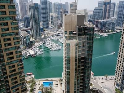 شقة 2 غرفة نوم للبيع في مساكن شاطئ جميرا (JBR)، دبي - Panoramic Marina View | 2BR+Laundry | VACANT